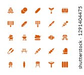 grill icon set. collection of... | Shutterstock .eps vector #1291404475