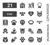 paw icon set. collection of 21... | Shutterstock .eps vector #1291404535