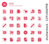 add icon set. collection of 30... | Shutterstock .eps vector #1291406998