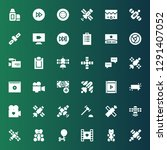 glossy icon set. collection of... | Shutterstock .eps vector #1291407052