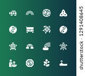 symbolic icon set. collection... | Shutterstock .eps vector #1291408645