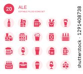 ale icon set. collection of 20... | Shutterstock .eps vector #1291408738