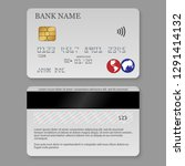 realistic detailed credit card. ... | Shutterstock .eps vector #1291414132