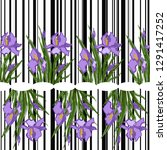 seamless pattern with blooming...   Shutterstock .eps vector #1291417252
