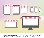the vector internet business... | Shutterstock .eps vector #1291420195