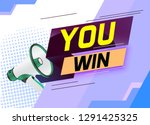 you win word concept vector... | Shutterstock .eps vector #1291425325
