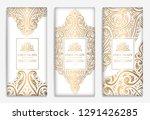 luxury golden packaging design... | Shutterstock .eps vector #1291426285