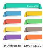 sticky note . multicolor and... | Shutterstock .eps vector #1291443112
