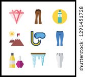 9 clear icon. vector... | Shutterstock .eps vector #1291451728