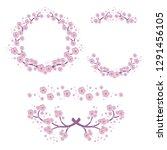 illustration of set floral... | Shutterstock .eps vector #1291456105