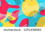pop art color background.... | Shutterstock .eps vector #1291458082
