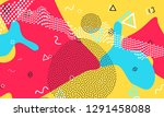 color background. funky... | Shutterstock .eps vector #1291458088