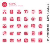 email icon set. collection of... | Shutterstock .eps vector #1291466638