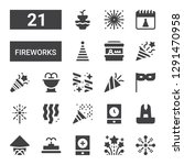 fireworks icon set. collection... | Shutterstock .eps vector #1291470958