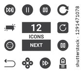 next icon set. collection of 12 ... | Shutterstock .eps vector #1291471078