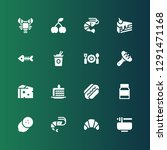 gourmet icon set. collection of ... | Shutterstock .eps vector #1291471168