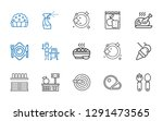 plate icons set. collection of... | Shutterstock .eps vector #1291473565