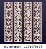 laser cut decorative lace... | Shutterstock .eps vector #1291475635