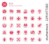 fly icon set. collection of 30... | Shutterstock .eps vector #1291477282