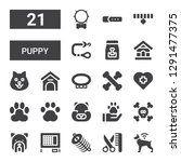 puppy icon set. collection of... | Shutterstock .eps vector #1291477375