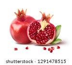 Fresh Ripe Pomegranate With...