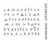 black sport icons set | Shutterstock .eps vector #1291481155
