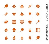 fluffy icon set. collection of... | Shutterstock .eps vector #1291482865