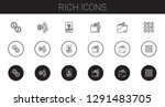 rich icons set. collection of... | Shutterstock .eps vector #1291483705