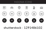 insignia icons set. collection... | Shutterstock .eps vector #1291486102