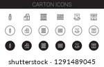 carton icons set. collection of ... | Shutterstock .eps vector #1291489045