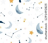seamless childish pattern with... | Shutterstock .eps vector #1291492825