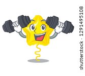 fitness star balloon was flown... | Shutterstock .eps vector #1291495108