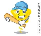 playing baseball star balloon... | Shutterstock .eps vector #1291496425