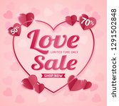 happy valentine's day sale... | Shutterstock .eps vector #1291502848