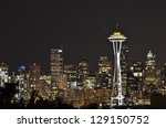 Iconic Seattle Skyline At Night