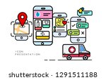 minimal app presentation for...   Shutterstock .eps vector #1291511188