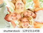 family and children are... | Shutterstock . vector #1291511458
