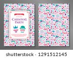 carnival party   concept of a... | Shutterstock .eps vector #1291512145