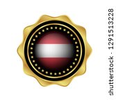 gold emblem with austria flag.... | Shutterstock .eps vector #1291513228