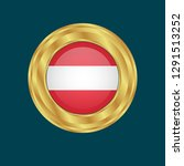 gold emblem with austria flag.... | Shutterstock .eps vector #1291513252