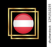 gold emblem with austria flag.... | Shutterstock .eps vector #1291513255