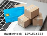 delivery of the order from the... | Shutterstock . vector #1291516885