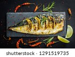 grilled fish fillets with lime... | Shutterstock . vector #1291519735