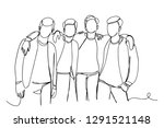 continuous line drawing of... | Shutterstock .eps vector #1291521148