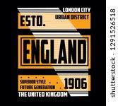 design tee element vintage... | Shutterstock .eps vector #1291526518