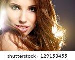 beautiful woman portrait | Shutterstock . vector #129153455