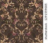 classic seamless baroque... | Shutterstock .eps vector #1291559005