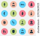people icons set with... | Shutterstock .eps vector #1291563925