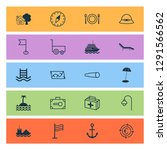 tourism icons set with carry... | Shutterstock .eps vector #1291566562