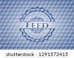 feed blue emblem or badge with... | Shutterstock .eps vector #1291572415